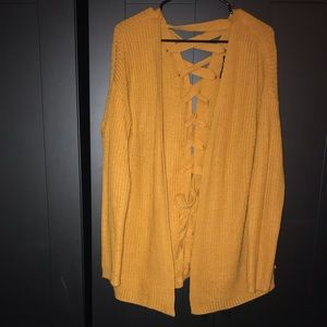 Oversized Back Tie-Up Cardigan!